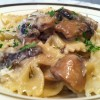 Bow Tie Pasta With Mushrooms And Cream Photo