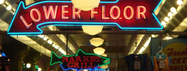 Pike Place Market Neon- Mark leslie, Beyond the Pasta