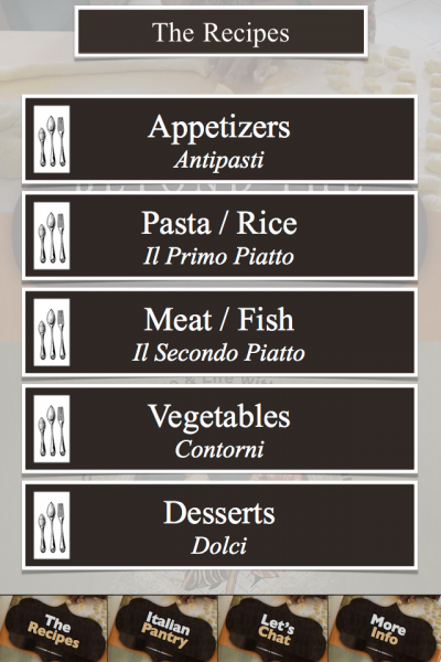 "Beyond the Pasta app menu ""Mark Leslie"""