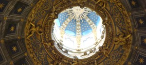 Inside view of the cupola of the Duomo, Siena, Italy
