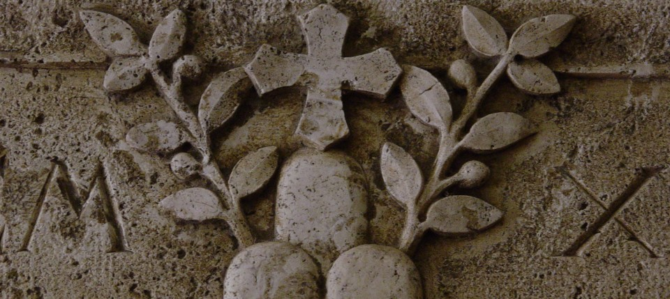 Detail from the abbey of Monte Oliveto Maggiore, just outside of Asciano, Italy.
