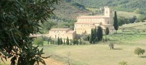 Abbazia di Sant'Antimo, Castelnuovo dell'Abate, Italy...near Montalcino, Italy.