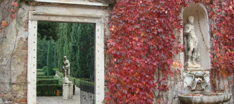 Entrance to the Giardini Giusti, Verona, Italy