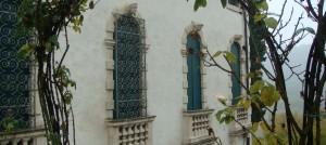 Carriage house windows of the Villa Valmarana ai Nani, Vicena, Italy
