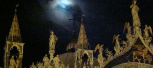 Moon over Saint Mark's, Venice, Italy