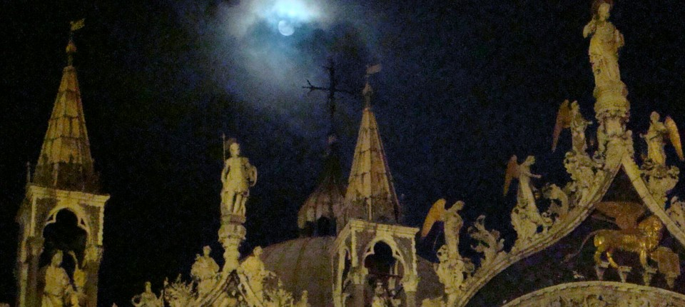 Moon over Saint Mark's, Venice, Italy