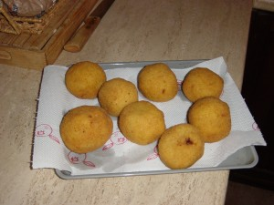 "Day 10 Photo- Arancini. Can you tell why they are called ""little oranges?"""