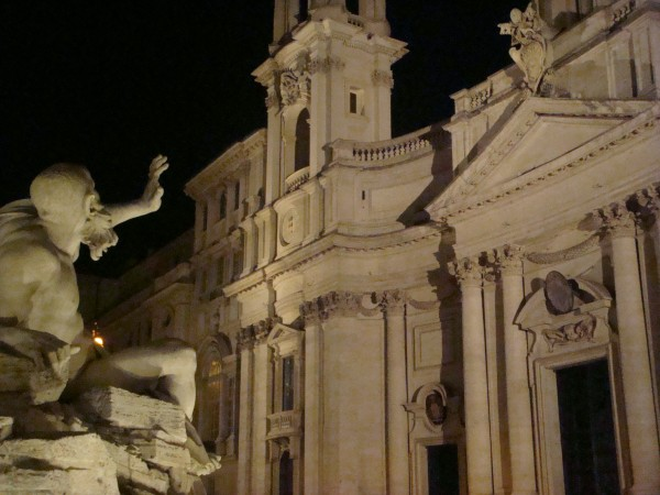 Day 13 Photo- the Bernini fountain in Piazza Navona.