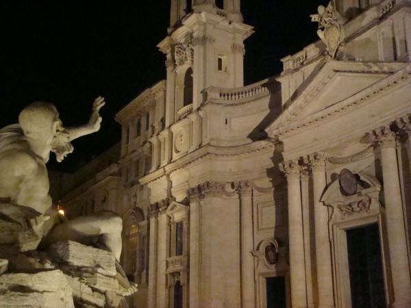 Day 13 Photo- the Bernini fountain in Piazza Navona.