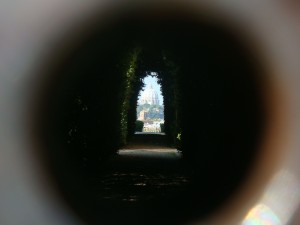 Day 15 Photo- looking through the keyhole at Saint Peter's.
