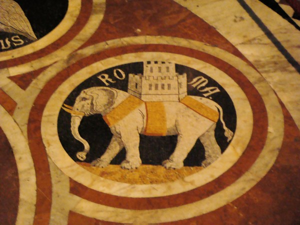 Day 17 Photo- the symbol of the Torre contrada, Siena.