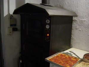 Day 18 Photo- the pizza oven at Anna & Giulio's.