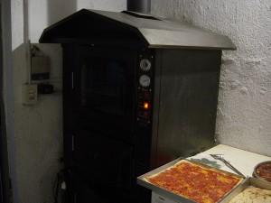 Day 18 Photo- the pizza oven at Anna & Giulio's.