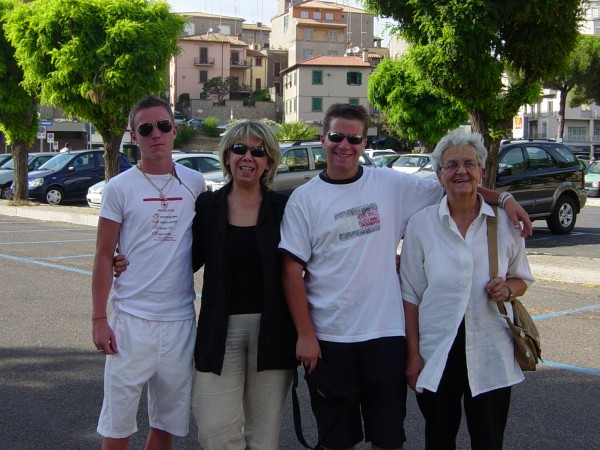 Day 19 Photo- Jimmy, Alessandra, Nicola, Nonna in Viterbo.