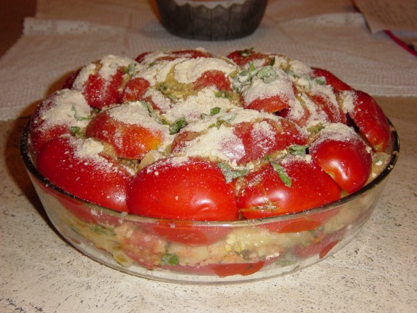 Day 24 Photo- Pasta al Forno Pugliese before being baked.