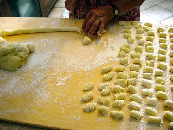 Day 27 Photo- Nonna making potato gnocchi.