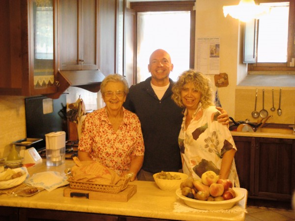 Day 28 Photo- Nonna, me, and Alessandra in the kitchen.