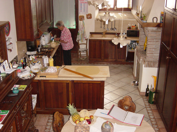 Day 6 Photo- Nonna's cooking labratory and classroom (the kitchen!).