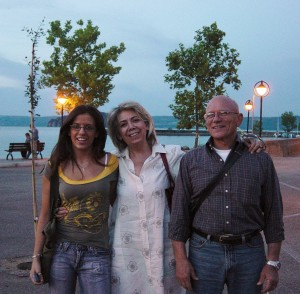 Day 7 Photo- in the town of Marta in front of Lago di Bolsena