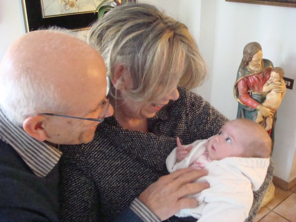 Epilogo Photo- Lillo & Alessandra with their first grandchild (Marianna's daughter).