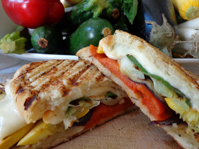 "Grilled Garden Vegetable Panini"" ""Beyond the Pasta"""