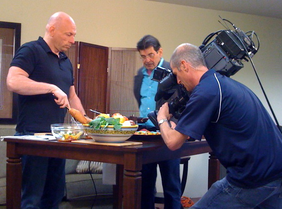 """""""KRON TV"""" in action """"Beyond the Pasta"""" """"Mark Leslie"""""""