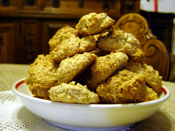 Monday August 29 Photo- the 3rd and final attempt at amaretti cookies.