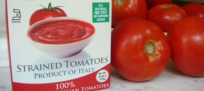 Pomi brand Strained Tomatoes - Mark Leslie - Beyond the Pasta