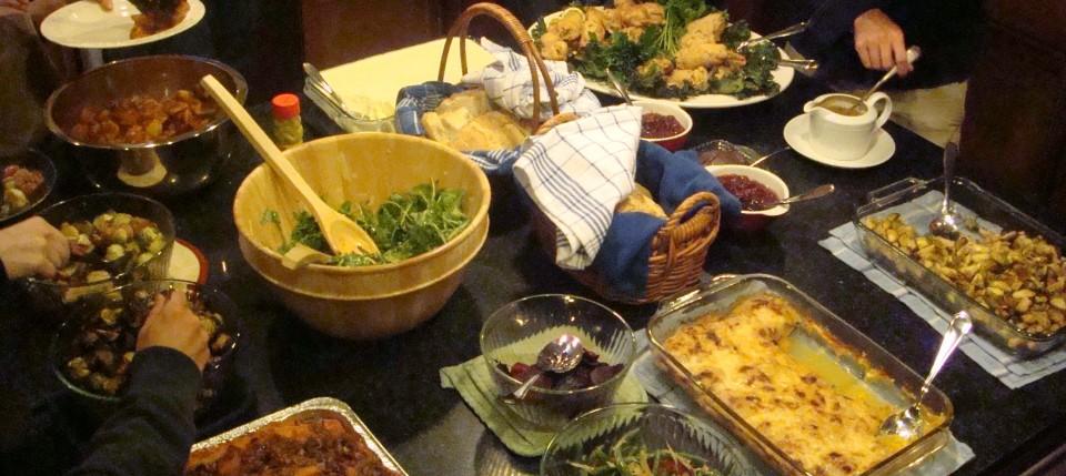 Thanksgiving spread 2010 - Beyond the Pasta - Mark Leslie
