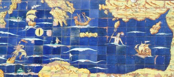 tile map above the Amalfi porta- Beyond the Pasta- Mark Leslie